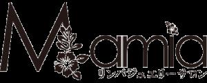 リンパジュエリーサロンMamia(マミア)福山市エステサロン 黒ロゴ画像
